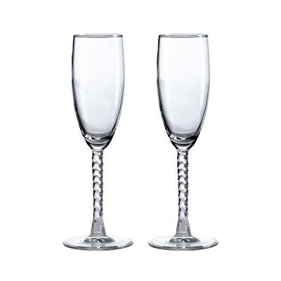 Champagne Twist Stem Glass Set of 2