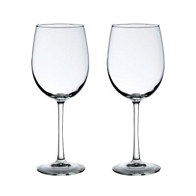 Clear Wine Glass Set of 2