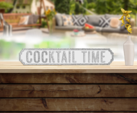 Cocktail Time Road Sign