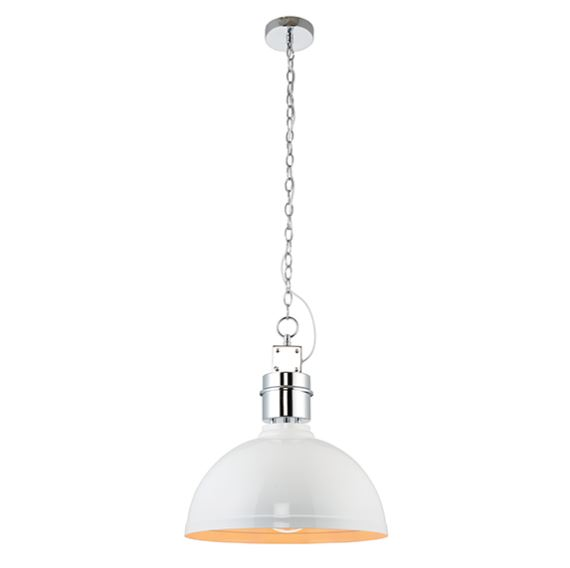 Collingham 1lt Pendant 40w White Finish