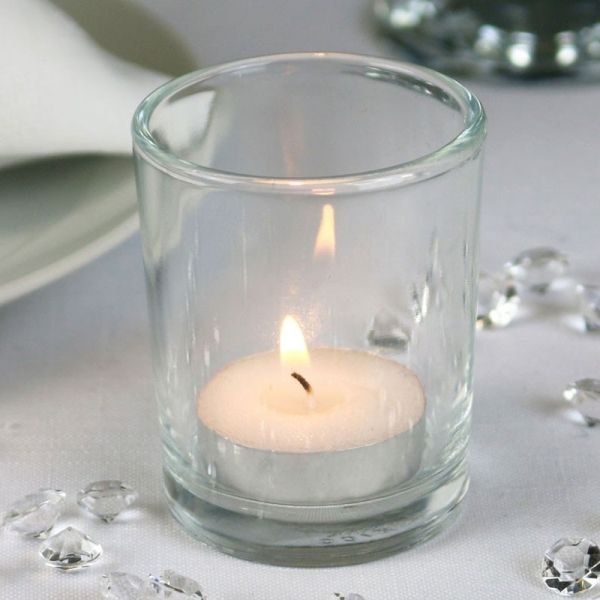 Cylinder Votive Clear Glass