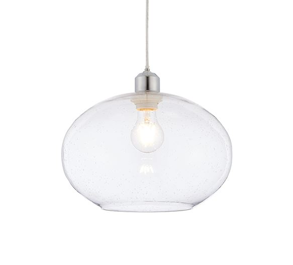 Dimitri Pendant Shade Clear Glass with Bubble Effect