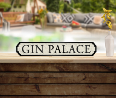 Gin Palace Vintage Sign