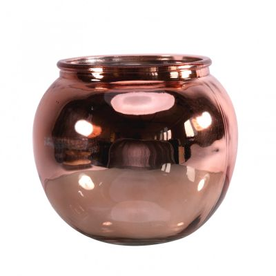 Shimmer Mercury Rose Gold Bubble Bowl