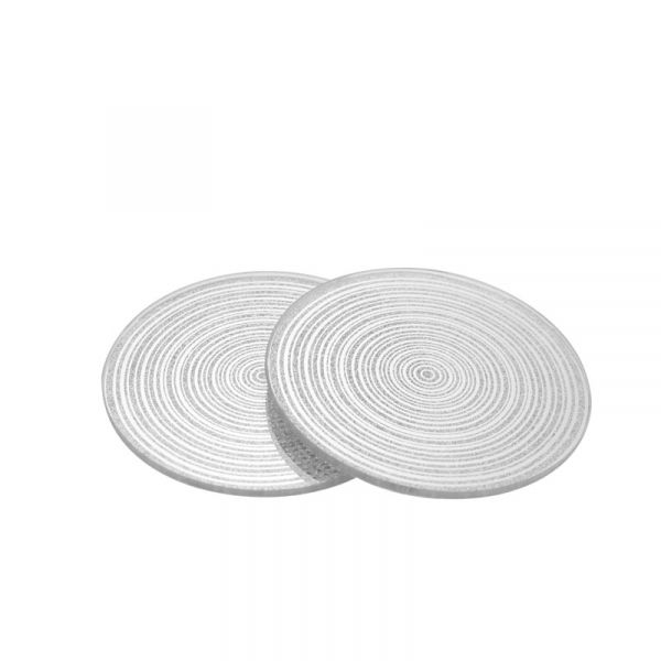 Silver Swirl Glitter Coaster (Set of four)