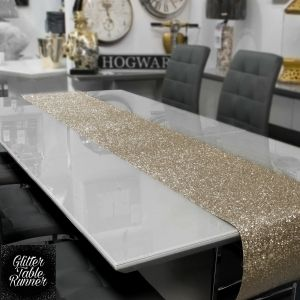 Table Runner Gold Glitter various lengths
