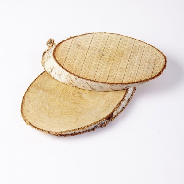 Wooden Birch Log Slice (3 sizes available)